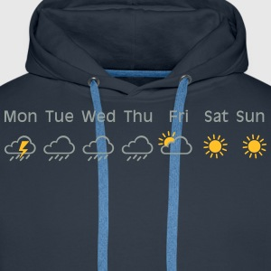 nice weekend weather Camisetas - Sudadera con capucha premium para hombre
