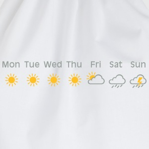 bad weekend weather T-shirts - Gymnastikpåse