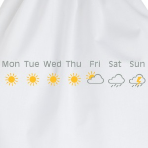 bad weekend weather T-shirts - Gymtas