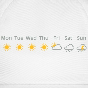 bad weekend weather Shirt - Baseballkappe