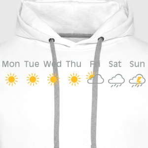 bad weekend weather T-shirts - Mannen Premium hoodie