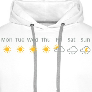 bad weekend weather Camisetas - Sudadera con capucha premium para hombre