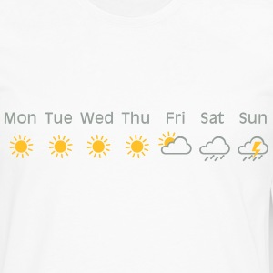 bad weekend weather T-shirts - Herre premium T-shirt med lange ærmer