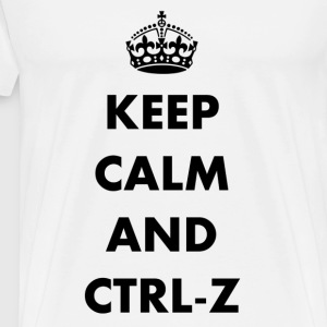 Keep calm and ctrl-z - Men's Premium T-Shirt