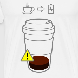Warning Low Coffee - Men's Premium T-Shirt