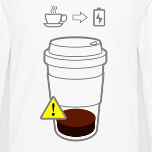Warning Low Coffee - Men's Premium Longsleeve Shirt