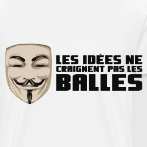 Anonymous Ideas are bullet proof - Men's Premium T-Shirt
