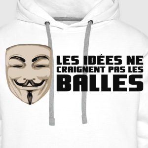 Anonymous Ideas are bullet proof - Men's Premium Hoodie