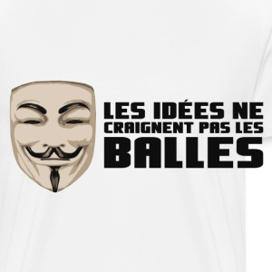 Anonymous Ideas are bullet proof - Premium-T-shirt herr