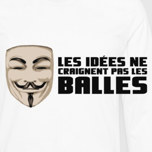 Anonymous Ideas are bullet proof - Männer Premium Langarmshirt