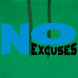 No Excuses T-skjorter - Premium hettegenser for menn