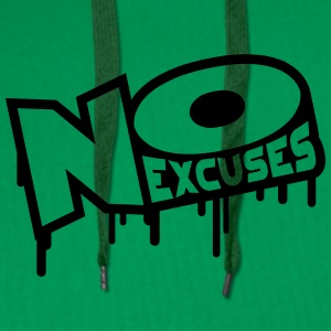 No Excuses T-shirts - Mannen Premium hoodie