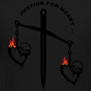 justice heart fire Sweat-shirts - T-shirt Premium Homme