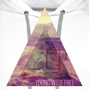 MOUSTACHE+TRIANGLE+YOUNG WILD FREE+HIPSTER+EYE T-Shirts - Männer Premium Hoodie
