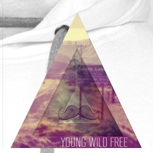 MOUSTACHE+TRIANGLE+YOUNG WILD FREE+HIPSTER+EYE+EGY T-Shirts - Men's Premium Hoodie