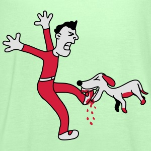 Dog Bites Man In The Foot T-shirts - Tanktopp dam från Bella