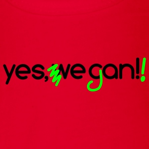 Barack Obama Slogan - abgewandelt Yes, we can veg - Baby Bio-Kurzarm-Body