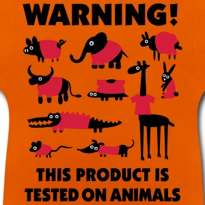 Warning this product is tested on animals 3clr Tee shirts - T-shirt Bébé