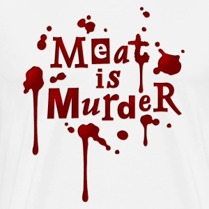 Koch-Schürze 'Meat is Murder!' - Men's Premium T-Shirt