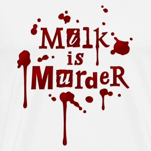 Mens Hoodie 'Milk is Murder!' 1 - Men's Premium T-Shirt