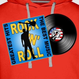 Rock 'n' Roll design 05 Tee shirts - Sweat-shirt à capuche Premium pour hommes