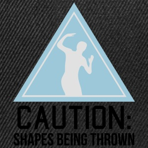 caution shapes being thrown Tee shirts - Casquette snapback