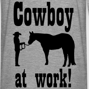 Cowboy at Work Horsemanship Hoodies & Sweatshirts - Men's Premium Longsleeve Shirt