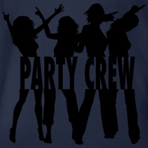 Party Crew / Drinking Team / Party on! 1c Shirts - Baby bio-rompertje met korte mouwen