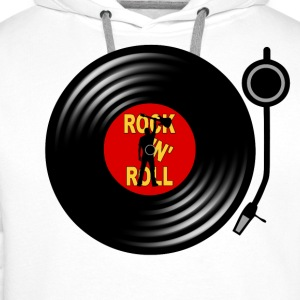 Rock 'n' Roll record player Long sleeve shirts - Men's Premium Hoodie
