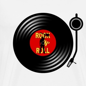 Rock 'n' Roll record player Long sleeve shirts - Men's Premium T-Shirt