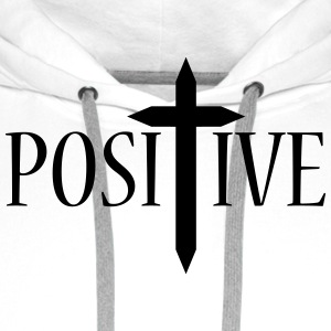 Positive / Cross 1c Shirts - Men's Premium Hoodie