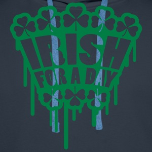 Irish For A Day Graffiti Magliette - Felpa con cappuccio premium da uomo