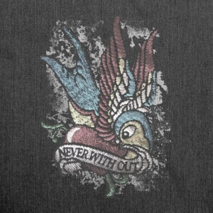 Tattoo bird vintage distressed patjila Pullover & Hoodies - Schultertasche aus Recycling-Material