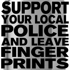 Support Your Local Police - Leave Fingerprints T-Shirts - Water Bottle