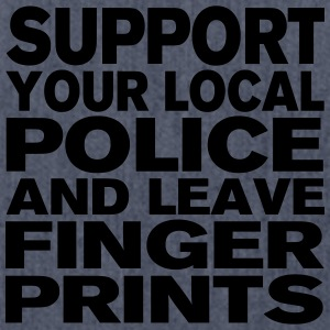 Support Your Local Police - Leave Fingerprints T-Shirts - Shoulder Bag made from recycled material