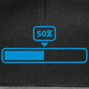 50 Procent Loading Bar T-shirts - Snapback Cap