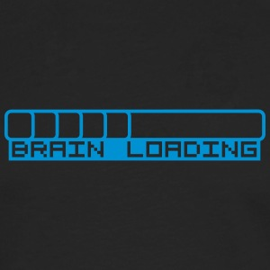 Brain Loading Bar T-shirts - Långärmad premium-T-shirt herr