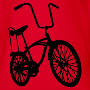 Rood old school retro bike Kinder shirts - Baby bio-rompertje met korte mouwen