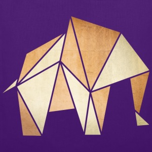 Origami: Elefant (Pergament-Optik) Shirts - Tas van stof