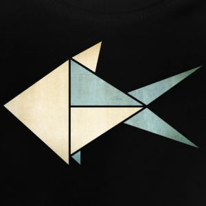 Origami: Fish (parchment paper look) Shirts - Baby T-shirt