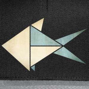 Origami: Fish (parchment paper look) Skjorter - Snapback-caps