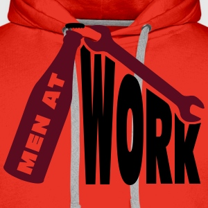 Men at work T-shirts - Herre Premium hættetrøje