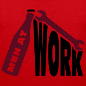 Men at work T-shirts - Mannen Premium tank top