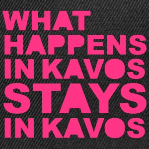 What Happens In Kavos T-shirts - Snapback Cap