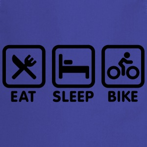 Eat sleep bike Shirts - Keukenschort