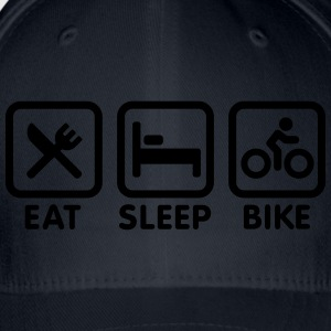 Eat sleep bike Shirts - Flexfit baseballcap