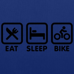 Eat sleep bike Shirts - Tas van stof