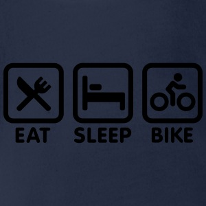 Eat sleep bike Shirts - Baby bio-rompertje met korte mouwen