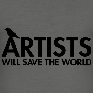Artists will save the world Sacs - Tee shirt près du corps Homme