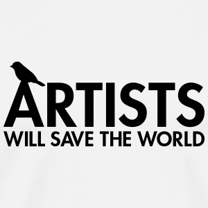 Artists will save the world Bouteilles et tasses - T-shirt Premium Homme